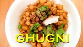 GHUGNI – Spicy Yellow Peas Curry – A Delicious Evening Snack