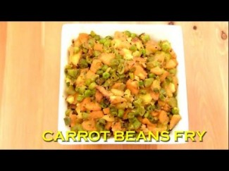 Green Beans Carrot Potato Dry Mixed Vegetable Curry