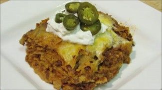 How to make Enchilada Casserole – Easy Mexican Lasagna- The Wolfe Pit