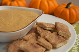 Pumpkin Pie Dip Recipe w/ Cinnamon Sugar Pie Crust Bites